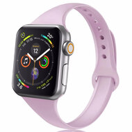 Skinny Band Design Silicone Watch Strap for Apple Watch 40mm / 38mm - Lavender