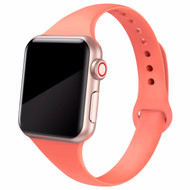 Skinny Band Design Silicone Watch Strap for Apple Watch 44mm / 42mm - Nectarine