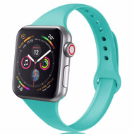 Skinny Band Design Silicone Watch Strap for Apple Watch 44mm / 42mm - Teal