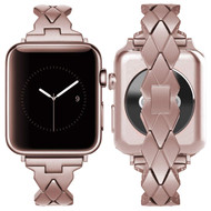 Rhombus Design Stainless Steel Bracelet Watch Band for Apple Watch 40mm / 38mm - Rose Gold