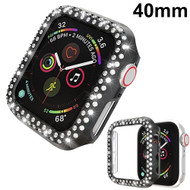 Luxury Diamond Electroplating Bumper Case for Apple Watch 40mm Series 5 / Series 4 - Black
