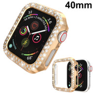 Luxury Diamond Electroplating Bumper Case for Apple Watch 40mm Series 5 / Series 4 - Gold