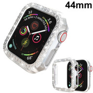 Luxury Diamond Electroplating Bumper Case for Apple Watch 44mm Series 5 / Series 4 - Silver