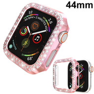 Luxury Diamond Electroplating Bumper Case for Apple Watch 44mm Series 5 / Series 4 - Pink
