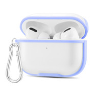 Transparent Hard Shell Protective Case with Carabiner Clip for Apple AirPods Pro - Lavender