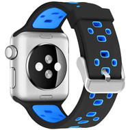 Active Lifestyle Sport Band Watch Strap for Apple Watch 44mm / 42mm - Black Blue