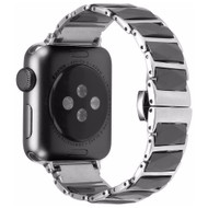 Ceramic and Stainless Steel Link Watch Band for Apple Watch 44mm / 42mm - Black