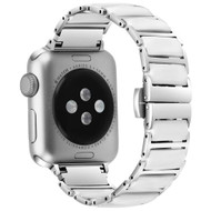 Ceramic and Stainless Steel Link Watch Band for Apple Watch 44mm / 42mm - White