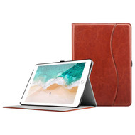 Smart Leather Folio Case with Auto Wake / Sleep Cover for iPad 9.7 (5th & 6th Generation) - Brown