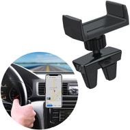 Swivel Car Air Vent Phone Mount Holder with Dual Fork Clips - Black