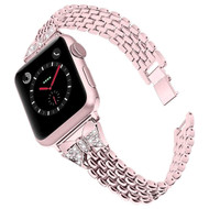 Stainless Steel Link Diamond Bracelet Watch Band for Apple Watch 40mm / 38mm - Rose Gold