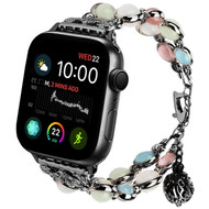 Cats Eye & Glow-In-The-Dark Gemstone Watch Band Bracelet for Apple Watch 44mm / 42mm - Black