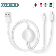 3-IN-1 Magnetic Charging Cable for Apple Watch - White