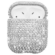 Diamond Encrusted Protective Case for Apple AirPods - Silver