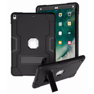 *Sale* Shock Absorption Rugged Hybrid Armor Case with Stand for iPad Air 3 (3rd Generation) / iPad Pro 10.5 inch - Black
