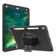Military Grade Hybrid Case with Hand Strap & Kickstand for iPad Air 3 (3rd Generation) / iPad Pro 10.5 inch - Black