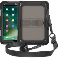 Rugged Hybrid Armor Case with Shoulder Strap and Kickstand for iPad Air 3 (3rd Generation) / iPad Pro 10.5 inch - Black