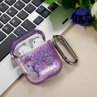 Quicksand Glitter Waterfall Case for Apple AirPods - Purple