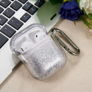 Quicksand Glitter Waterfall Case for Apple AirPods - Silver