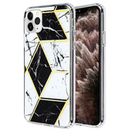 *Sale* Fusion Shield Tough Snap-on Case for iPhone 11 Pro Max - Marble Black White