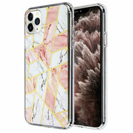 *Sale* Fusion Shield Tough Snap-on Case for iPhone 11 Pro Max - Marble Pink White