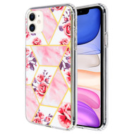*Sale* Fusion Shield Tough Snap-on Case for iPhone 11 - Marble Roses