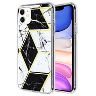 *Sale* Fusion Shield Tough Snap-on Case for iPhone 11 - Marble Black White