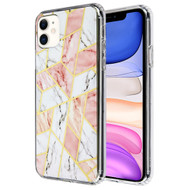 *Sale* Fusion Shield Tough Snap-on Case for iPhone 11 - Marble Pink White