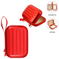 Hard Shell Protective Storage Case for Apple AirPods and AirPods Pro - Red