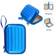 Hard Shell Protective Storage Case for Apple AirPods and AirPods Pro - Blue