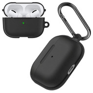 Leather Texture Protective TPE Case for Apple AirPods Pro - Black