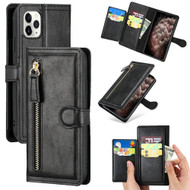 Xtra Series Zipper Leather Wallet Stand Case for iPhone 11 Pro Max - Black