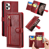 Xtra Series Zipper Leather Wallet Stand Case for iPhone 11 Pro Max - Red