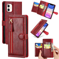 Xtra Series Zipper Leather Wallet Stand Case for iPhone 11 - Red