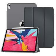*SALE* Leather Folio Smart Hybrid Case for iPad Pro 12.9 inch (3rd Generation) - Dark Grey