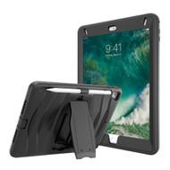 Maximum Protection Rugged Hybrid Armor Case with Kickstand for iPad (5th/6th Gen) / iPad Pro 9.7 / iPad Air 2 - Black