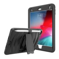 Maximum Protection Rugged Hybrid Armor Case with Kickstand for iPad Mini 5 (5th Generation) / iPad Mini 4 - Black