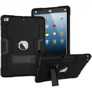 Shock Absorption Heavy Duty Rugged Hybrid Armor Case with Kickstand for iPad Air (1st Generation) - Black