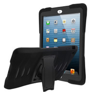 Maximum Protection Rugged Hybrid Armor Case with Kickstand for iPad Air (1st Generation) - Black