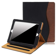 Slim Folding Smart Leather Folio Stand Case with Auto Wake / Sleep for iPad (2nd, 3rd and 4th Generation) - Black Brown