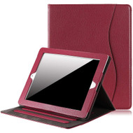 Slim Folding Smart Leather Folio Stand Case with Auto Wake / Sleep for iPad (2nd, 3rd and 4th Generation) - Red
