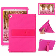 Drop Protection Silicone Case with Stand for iPad 10.2 inch (7th Generation) / iPad Air 3 / iPad Pro 10.5 - Hot Pink