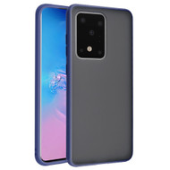 Frost Semi Transparent Hybrid Case for Samsung Galaxy S20 Ultra - Navy Blue