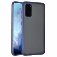 Frost Semi Transparent Hybrid Case for Samsung Galaxy S20 - Navy Blue