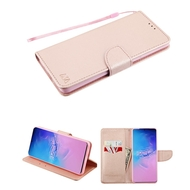 Crossgrain Series Diary Leather Wallet Stand Case for Samsung Galaxy S20 Ultra - Rose Gold