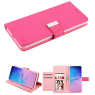 Xtra Series Essential Leather Wallet Stand Case for Samsung Galaxy S20 Ultra - Hot Pink