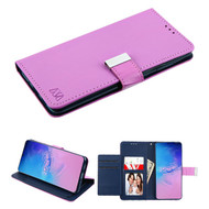 Xtra Series Essential Leather Wallet Stand Case for Samsung Galaxy S20 Ultra - Purple