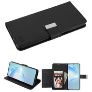 Xtra Series Essential Leather Wallet Stand Case for Samsung Galaxy S20 Plus - Black