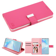Xtra Series Essential Leather Wallet Stand Case for Samsung Galaxy S20 Plus - Hot Pink