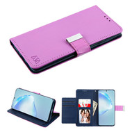 Xtra Series Essential Leather Wallet Stand Case for Samsung Galaxy S20 Plus - Purple
